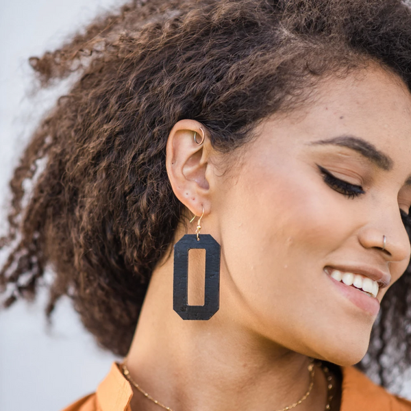 Matte Black Denver Earrings