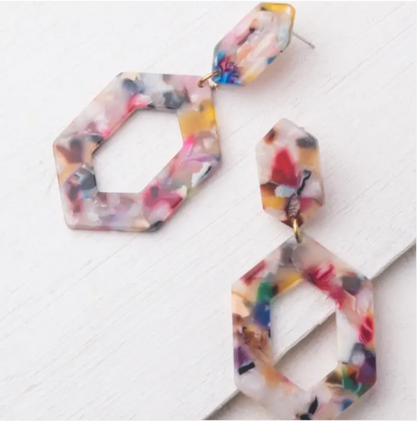 Gloria Multicolor Resin Earrings