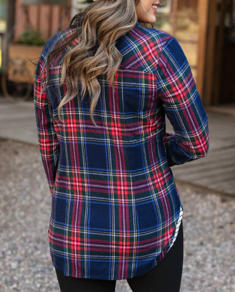 Stretch Flex Flannel Plaid Shirt -- Dakota Plaid