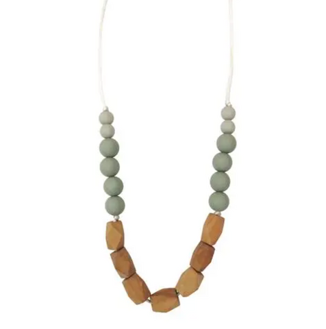 The Harrison Teething Necklace -- Succulent