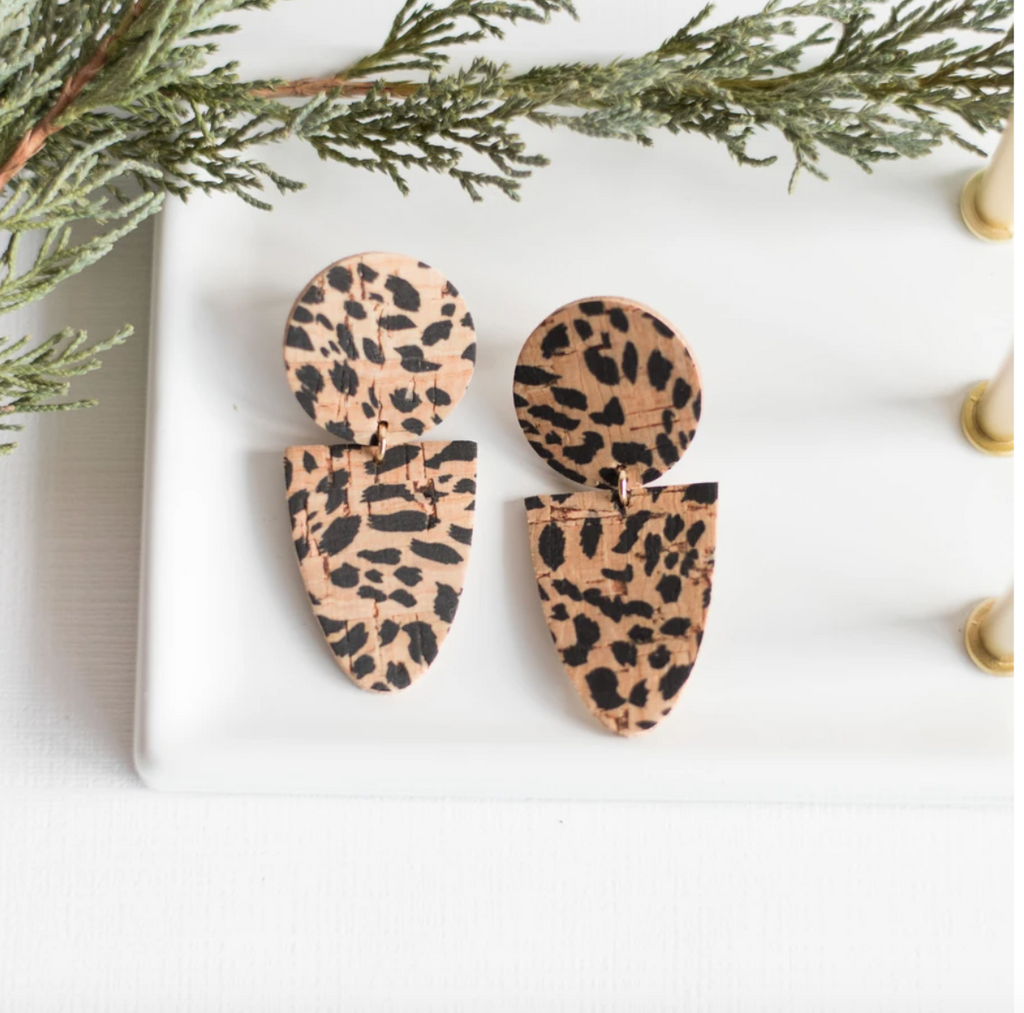 Cheetah Drew Earrings