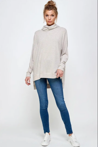 Stacia Top -- Taupe