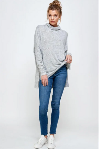Stacia Top -- Grey