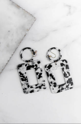 Lucite Statement Earrings