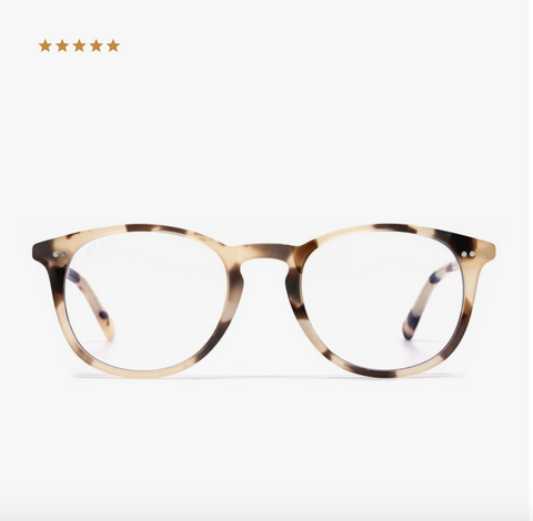Diff Jaxson Blue Light Technology Glasses -- Cream Tortoise