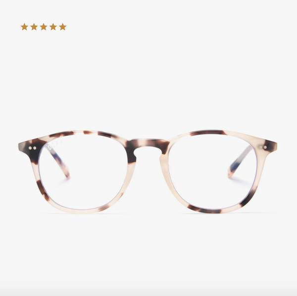 Diff Sawyer Blue Light Technology Glasses -- Cream Tortoise