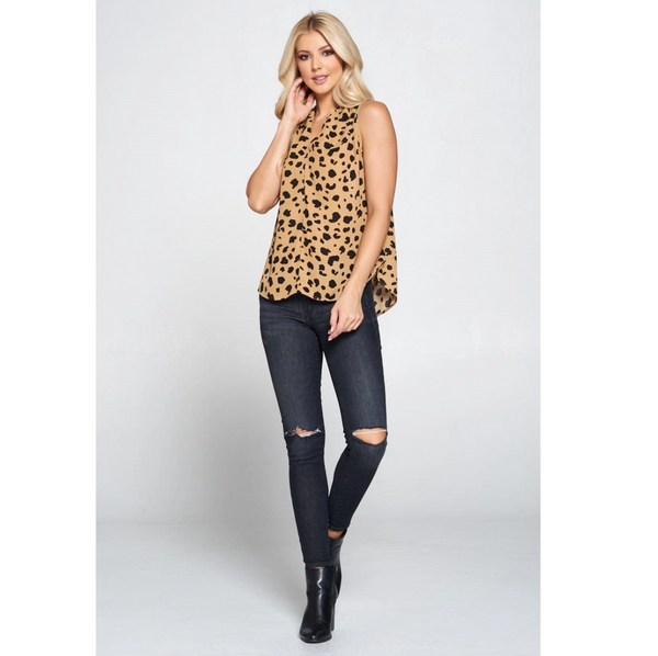 Cheetah V-Neck Tank