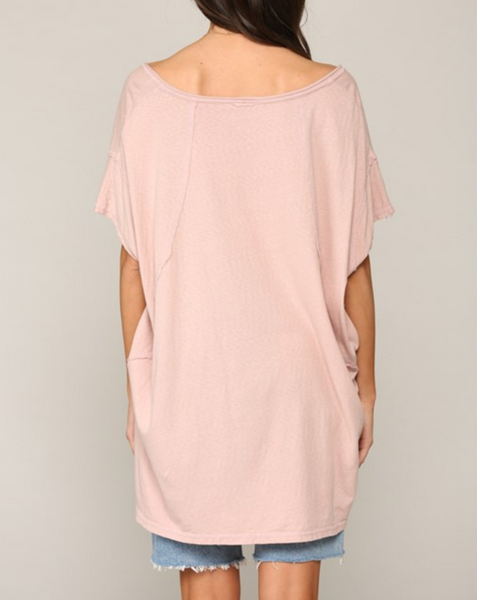 Hartley Top -- Dusty Rose