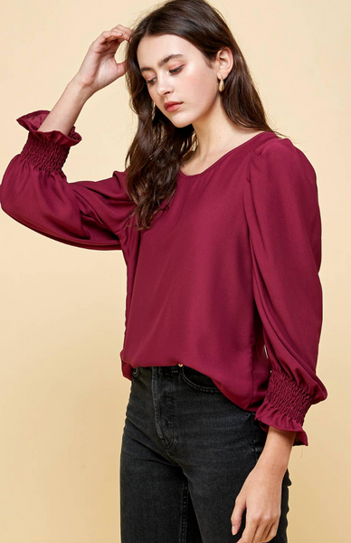 Cait Top -- Burgundy