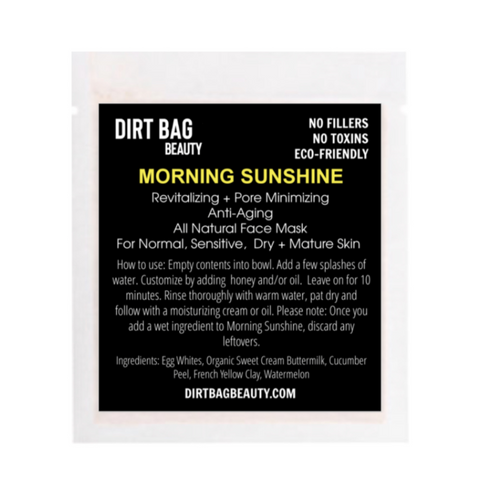 Organic Facial Mask -- Morning Sunshine