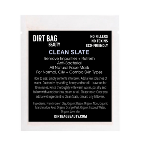 Organic Facial Mask -- Clean Slate