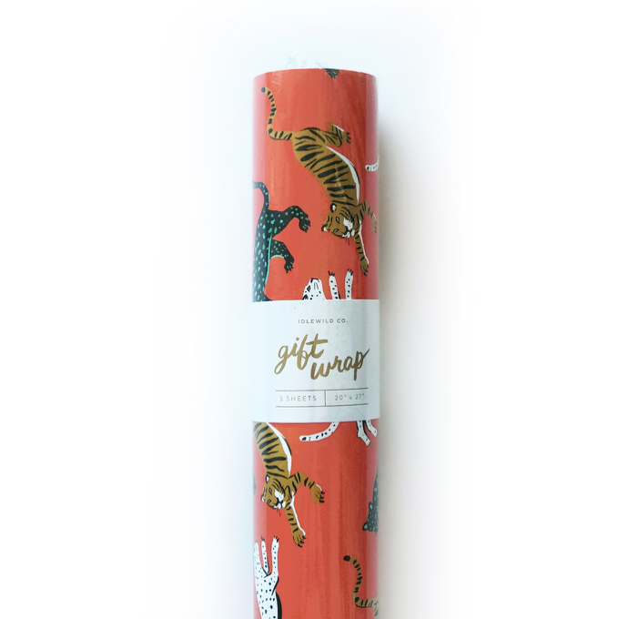 Wild Cat Gift Wrap- Roll of 3