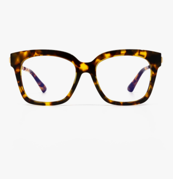 Diff Bella XS Blue Light Technology Glasses -- Amber Tortoise