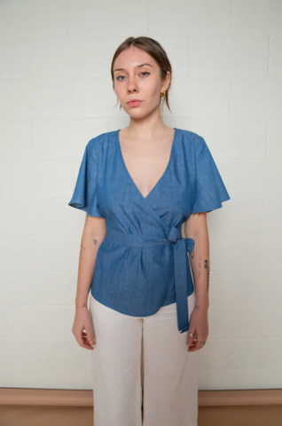 Amita Top -- Denim