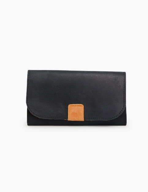 Kene Wallet -- Black/Cognac