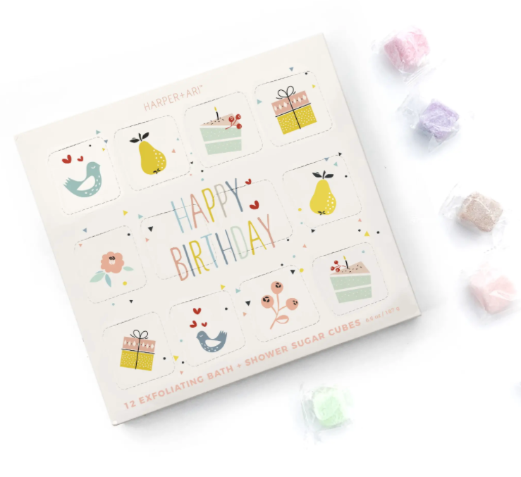 Happy Birthday Exfoliating Sugar Cube Set