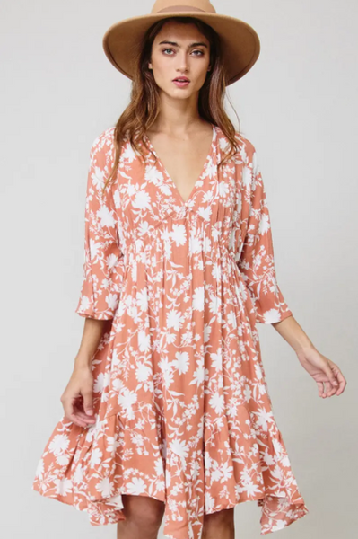 Suzanne Dress -- Coral