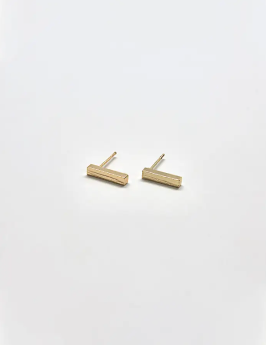 Gold Drop Bar Earrings