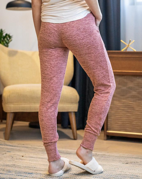 Spring Day Smocked Slounge Joggers -- Dusty Rose