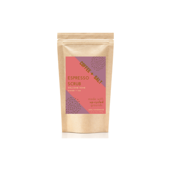 Welcome Home Espresso Scrub -- Lavender & Rose