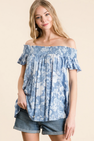 Rosalia Top -- Blue