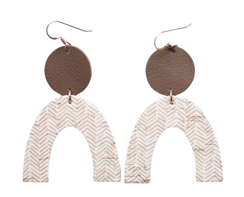 Rory Earrings -- Soft Taupe