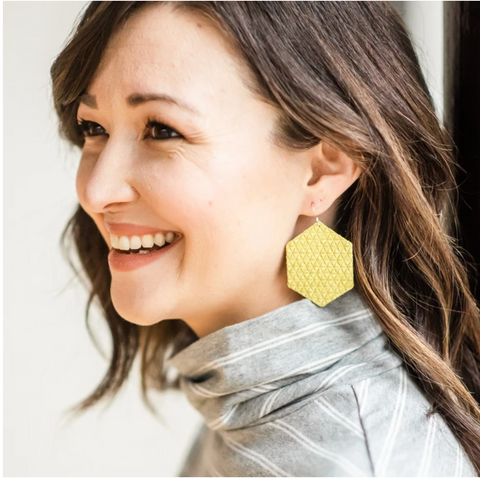 Heidi Earrings -- Illuminating Yellow
