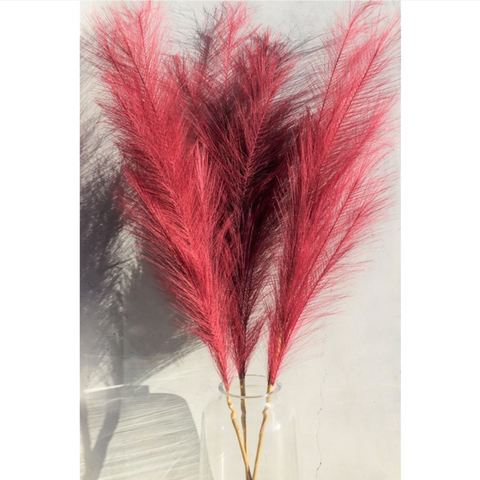 Large Burgundy Faux Pampas Grass Stem (In Store + Curbside Pick-up Only)