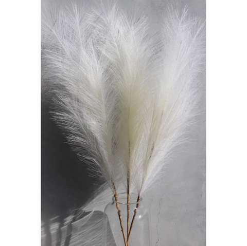 Large Off-White Faux Pampas Grass Stem (In Store + Curbside Pick-up Only)