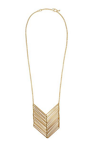 Purpose Jewelry Chevron Necklace -- Gold