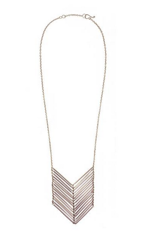 Purpose Jewelry Chevron Necklace -- Silver
