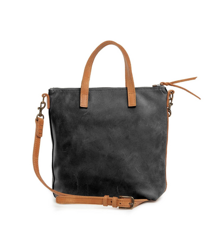 Abera Commuter Bag -- Black & Cognac