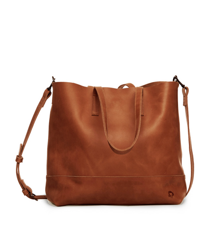 Abera Crossbody Tote -- Chestnut