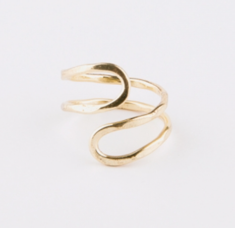 Meander Ring -- Gold