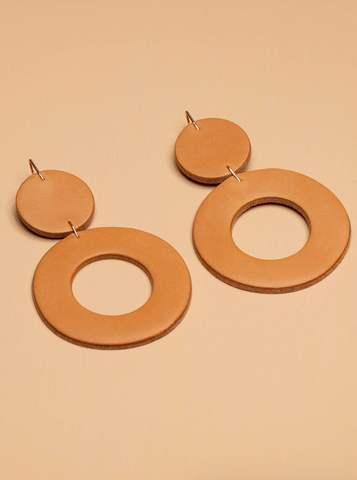 Stela Earrings -- Tobacco