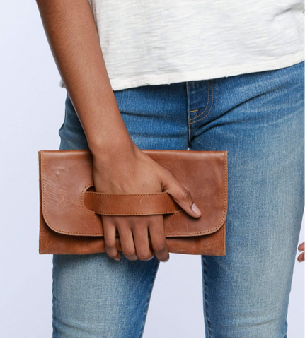 Mare Handle Clutch -- Chestnut