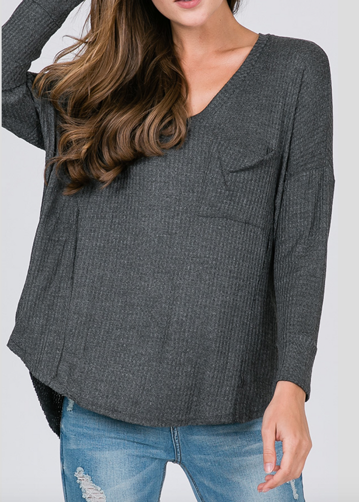 Portia Top -- Grey