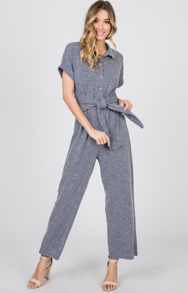 6874c23af26 Eve Jumpsuit -- Navy – The Flourish Market