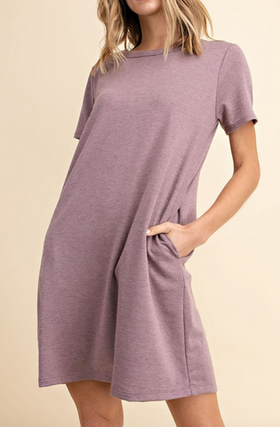 Ava Shift Dress -- Mauve