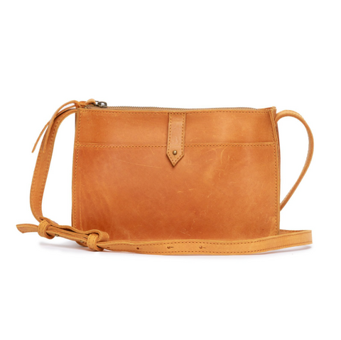 Chaltu Top Zip Crossbody -- Cognac