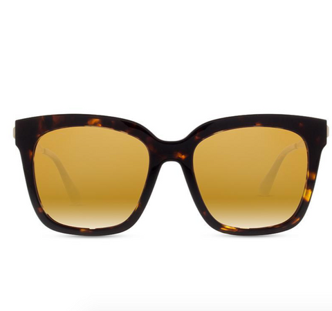Diff Bella Sunglasses -- Tortoise & Gold Flash Polarized Lens