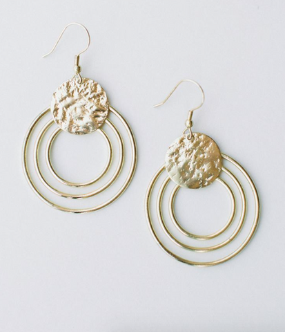 Splendid Sun Earrings -- Gold