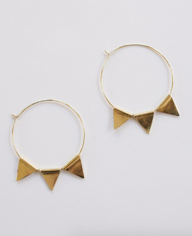 Abaco Hoop Earrings -- Gold