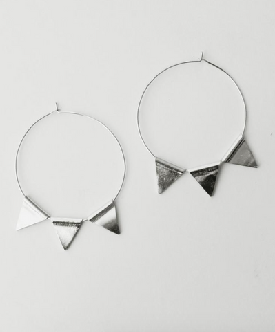 Abaco Hoop Earrings -- Silver