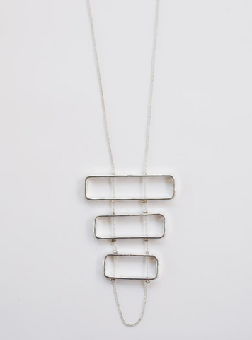 Triptych Necklace -- Silver