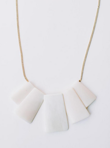 Voyager Necklace -- White