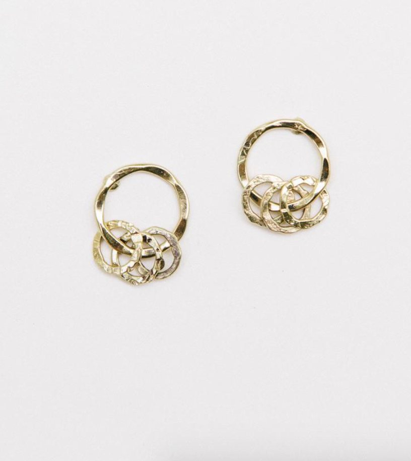 Encircled Studs -- Gold