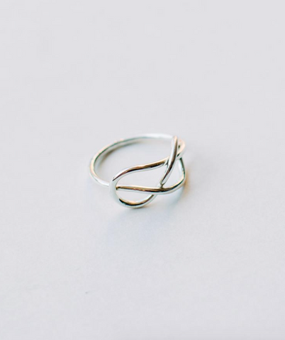 Top Knot Ring -- Silver