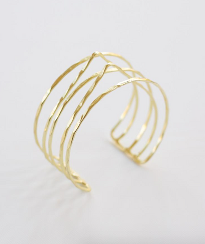 Summit Stacked Cuff -- Gold