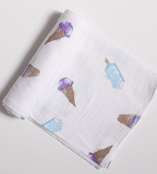 Ice Cream Swaddle Blanket